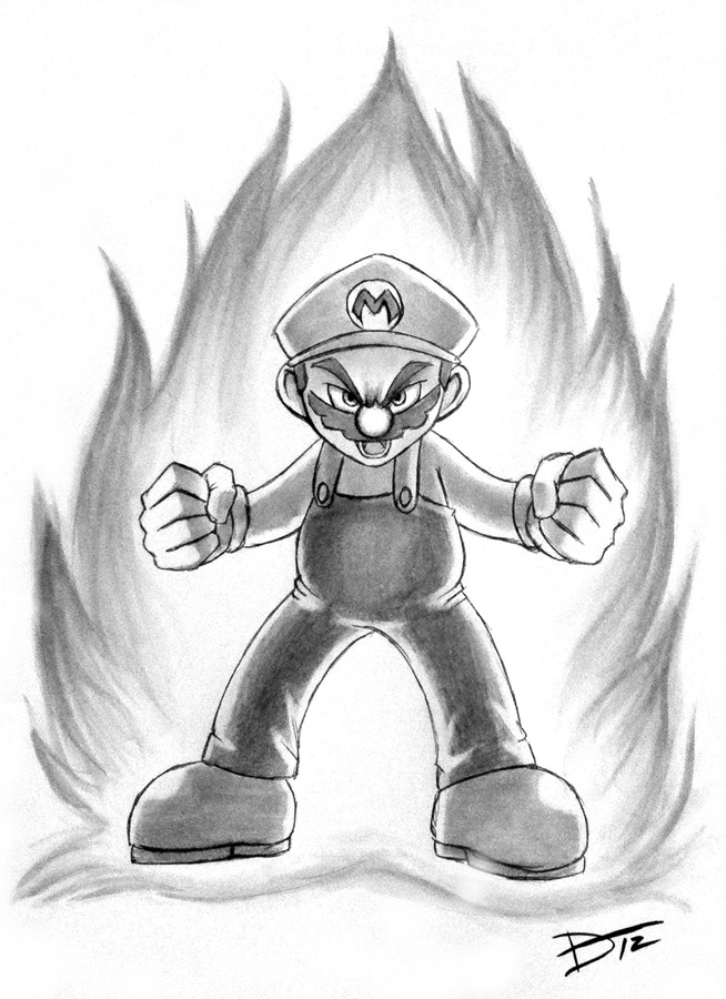 Drawing A Blank First Mario