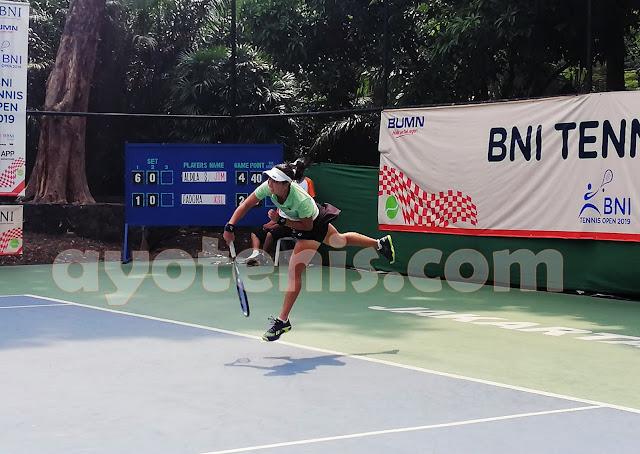 Kalahkan Dona, Dila Sabet Gelar Juara Tennis Open di Jakarta