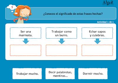 http://www.primerodecarlos.com/TERCERO_PRIMARIA/archivos/actividades_tilde_tercero/1/frases_hechas.swf