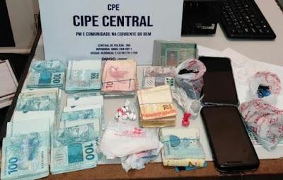 Cipe Central apreende drogas e mais de R$ 26 mil em dinheiro na Bahia