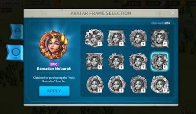 cara mendapatkan avatar frame rise of kingdoms