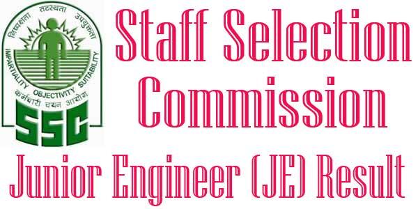 SSC JE Paper-II Result 2017