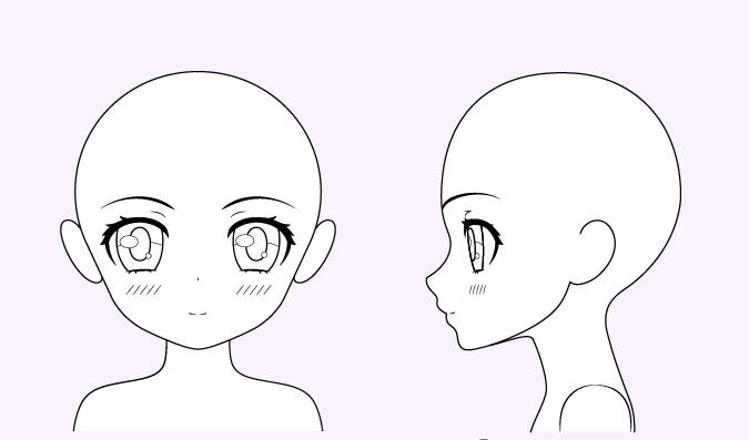 Gambar gadis anime lucu blush on