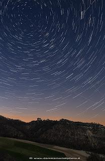 Star Trails, Val Chiarone, Val Tidone, Rocca d'Olgisio