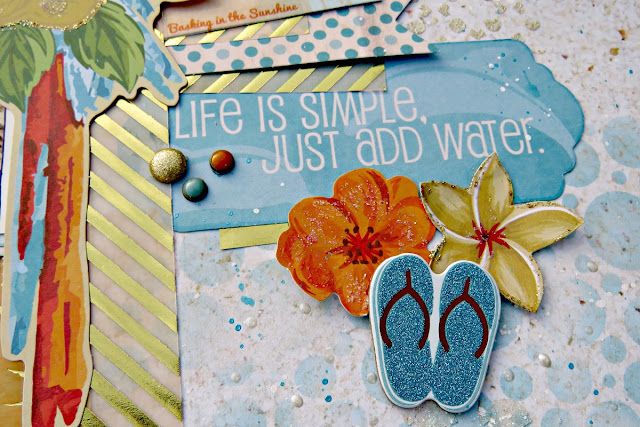Life is simple scrapbook page tracee provis bo bunny beach therapy vellum paper 02