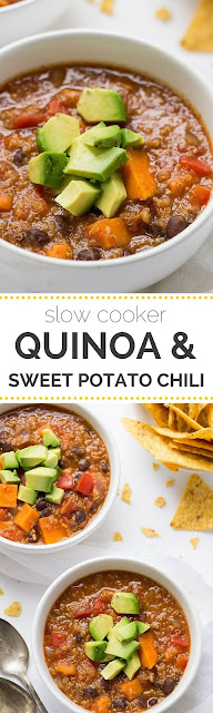 Crockpot Sweet Potato & Black Bean Quinoa Chili