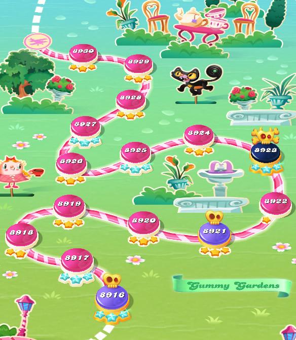 Candy Crush Saga level 8916-8930
