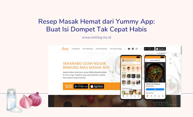 Resep Masak Hemat dari Yummy App