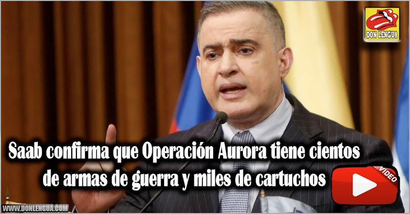Saab confirma que Operación Aurora tiene cientos de armas de guerra y miles de cartuchos