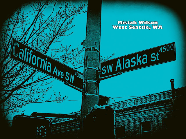 California Avenue SW & SW Alaska Street, West Seattle, Washington by Mistah Wilson