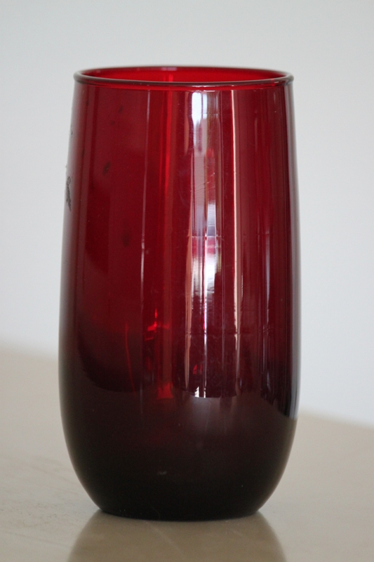 Treasure Hunting Vintage Ruby Red Cobalt Blue Glass See Photo For Price