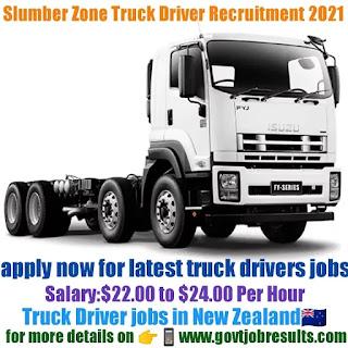 Slumberzone New Zealand Ltd Truck Driver Recruitment 2021-22