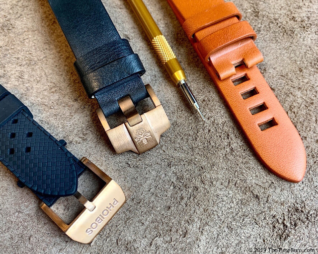 Phoibos Eagle Ray Bronze straps