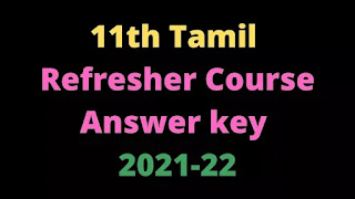 11th Tamil Refresher Course Answer key Topic 30 பாரதியார்