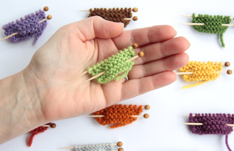 broches,tricot, empezando a tejer, miniatura, labores, manualidades