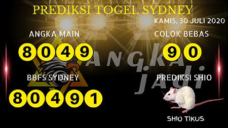 Prediksi Angka Jitu Sydney Kamis 30 Juli 2020