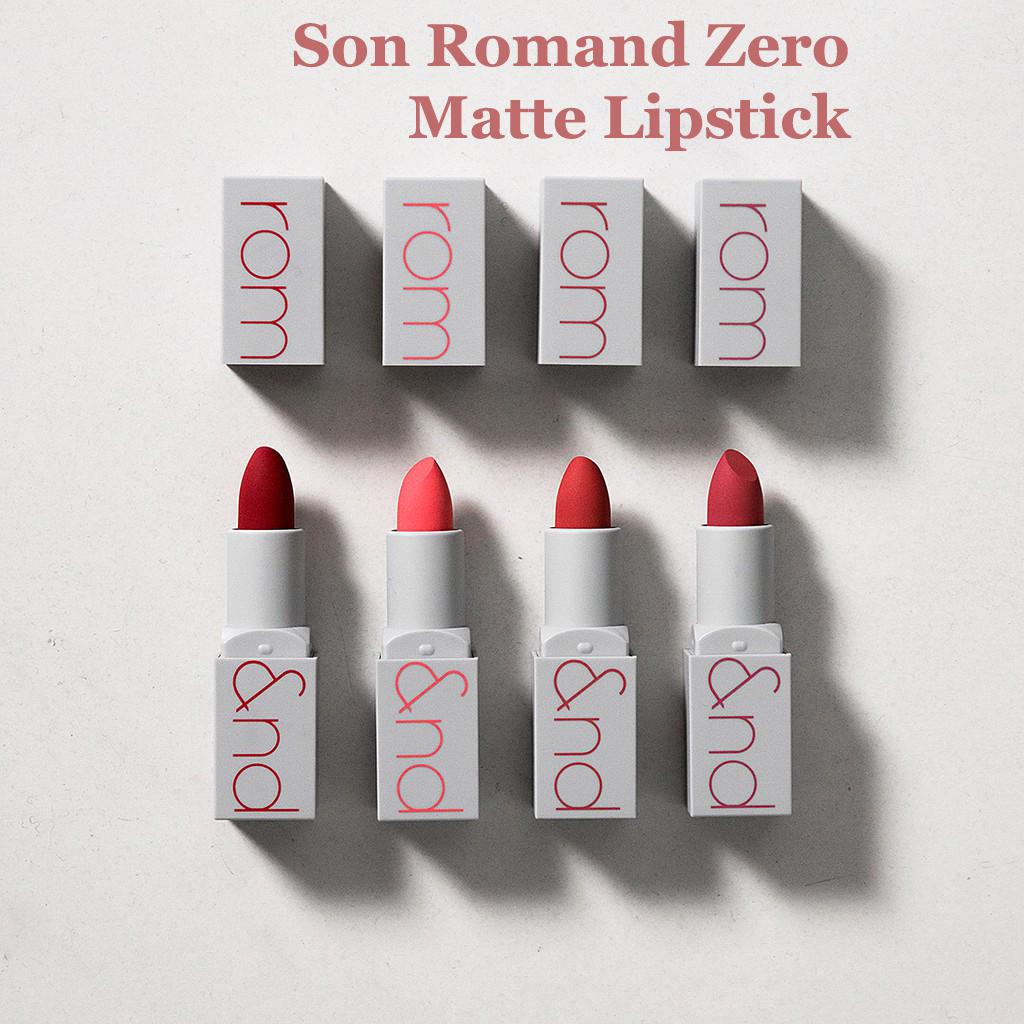 Review son Romand Zero Matte Lipstick - Bảng màu son đầy Trendy