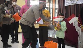 Sungguh Mulia Polres Pasuruan, 130 Orang Anak Yatim Piatu Korban Covid-19 Jadi Anak Asuh