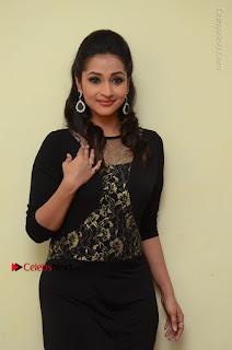 Telugu Actress Manasa Manohar Stills in Black Long Dress at Naku Nene Thopu Turumu Trailer Launch  0020.JPG