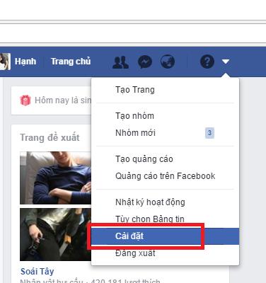 Thay đổi chức năng thông báo trong tài khoản Facebook