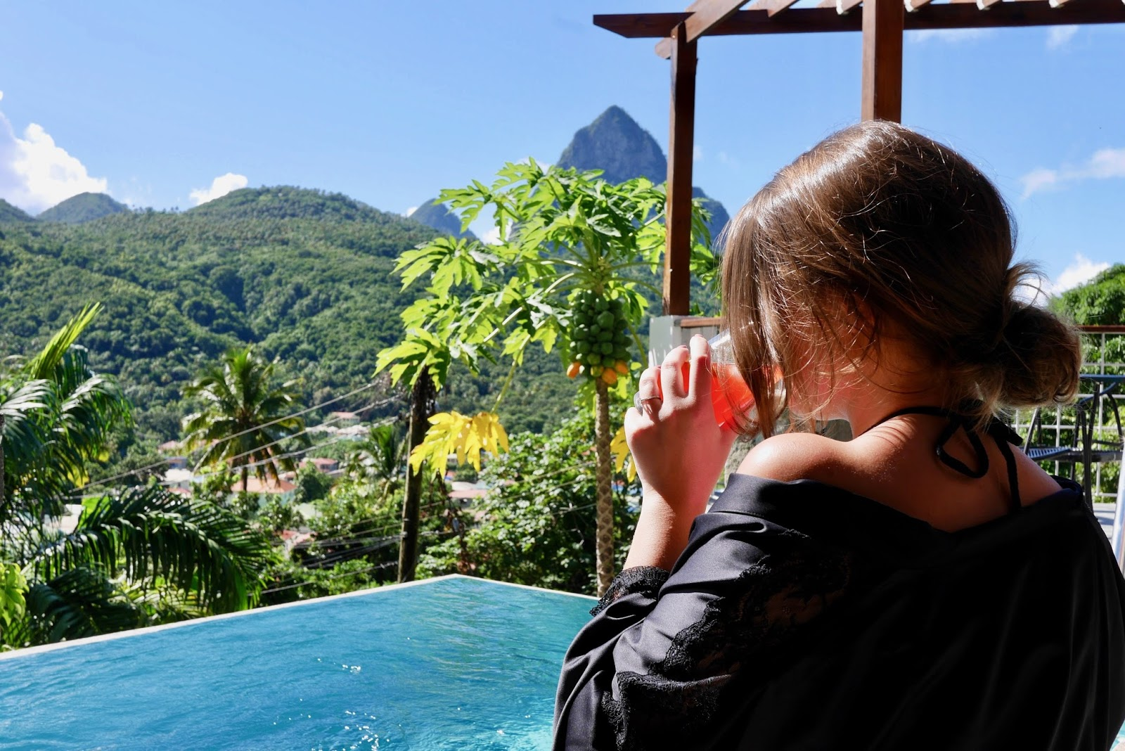 The best airbnb in the world looking onto the Piton Mountains, Soufrière, Saint Lucia, review by www.CalMcTravels.com, Cal McTravels