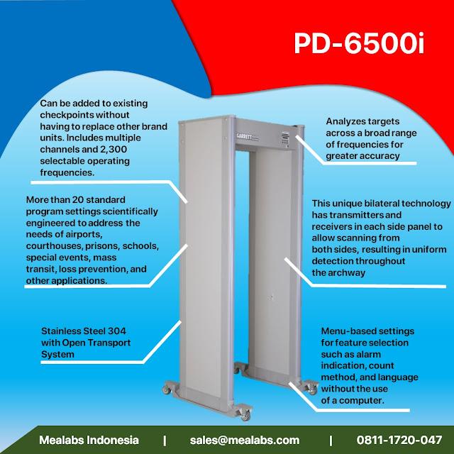 walktrough metal detector garret pd-6500i