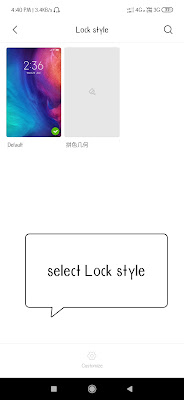 Change lock style in miui themes in mi mobiles