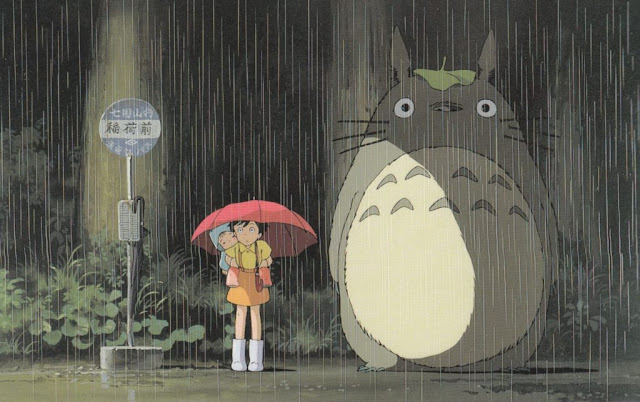 My Neighbor Totoro umbrella scene.