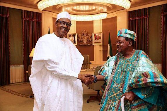 President Buhari receives Alaafin of Oyo at the Statehouse-Photos
