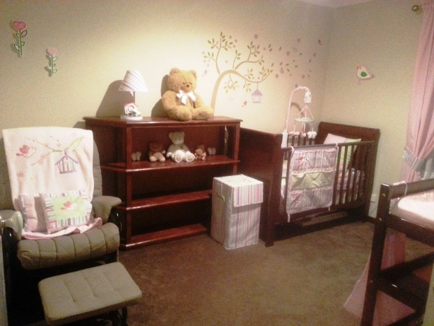 the new nursery all set up and ready