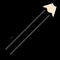 色鉛筆のマーク(黒)