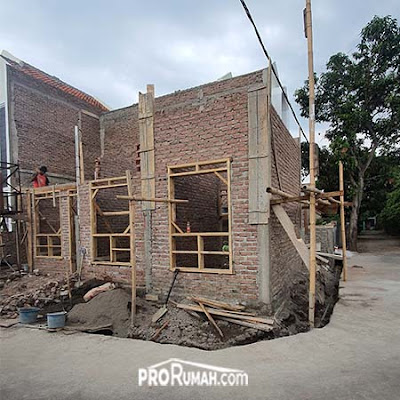 progres rumah Bandung Timur