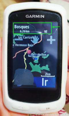 Ubicación GPS Garmin Edge 810