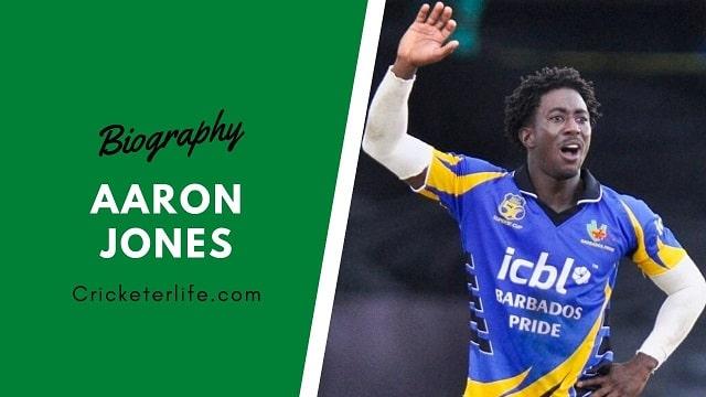 Aaron Jones cricketer Profile, age, height, stats, wife, etc.