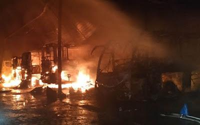 Homem agiu sozinho em incêndio que destruiu 20 ônibus na cidade de Jacobina