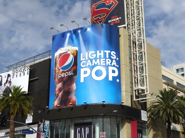 Pepsi Lights Camera Pop billboard