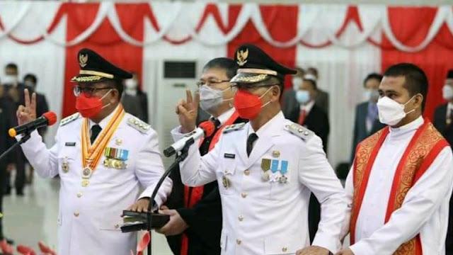 MM - HH Resmi Jabat Walikota dan Wakil Walikota Bitung