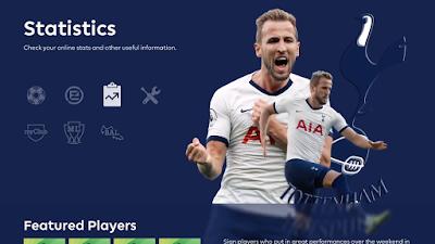 PES 2020 Tottenham Hotspur Menu Mod by Hawke