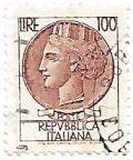 Selo Itália Turrita, 100 Lira