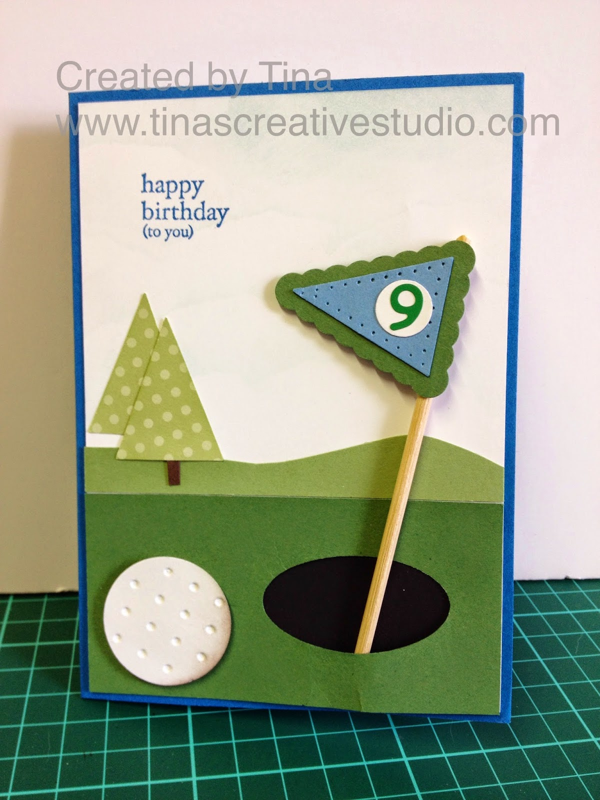 Golf card www.tinascreativestudio.com