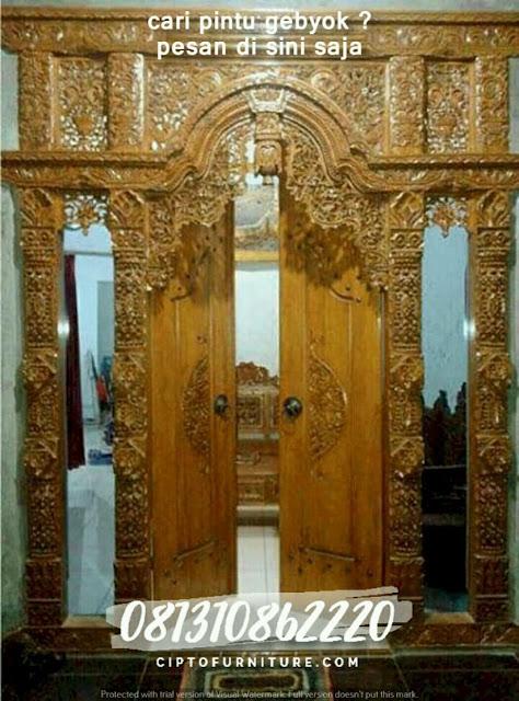 contoh pintu gebyok untuk rumah