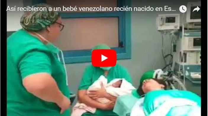 Así recibieron a un bebé venezolano recién nacido en España