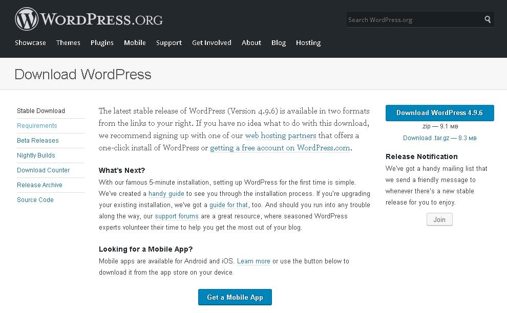 WordPress.org Download Page - Cara Manual Menghapus Plugin Wordpress Tanpa wp-admin