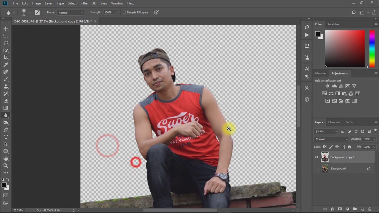 outdoor portrait photo manipulations working screenshot 2