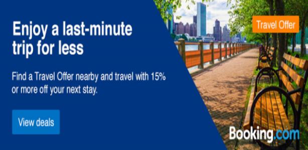 خصم 15% على كل حجوزات الفنادق والشقق حتي اخر ديسمبر مع Booking