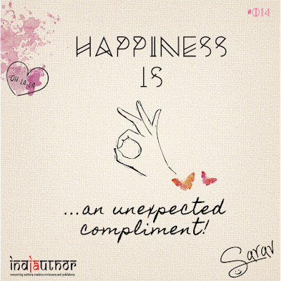 Happiness is an unexpected compliment!