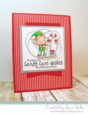 Candy Cane Wishes card-designed by Lori Tecler/Inking Aloud-stamps and dies from SugarPea Designs