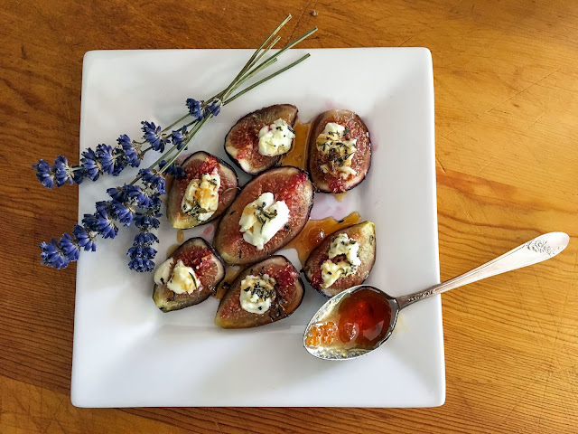 Pelindaba Lavender Honey and Goat Cheese with Figs