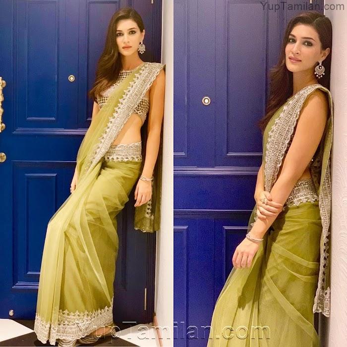 Kriti Sanon Gorgeous Spicy Photos in Saree|Half Saree Pictures