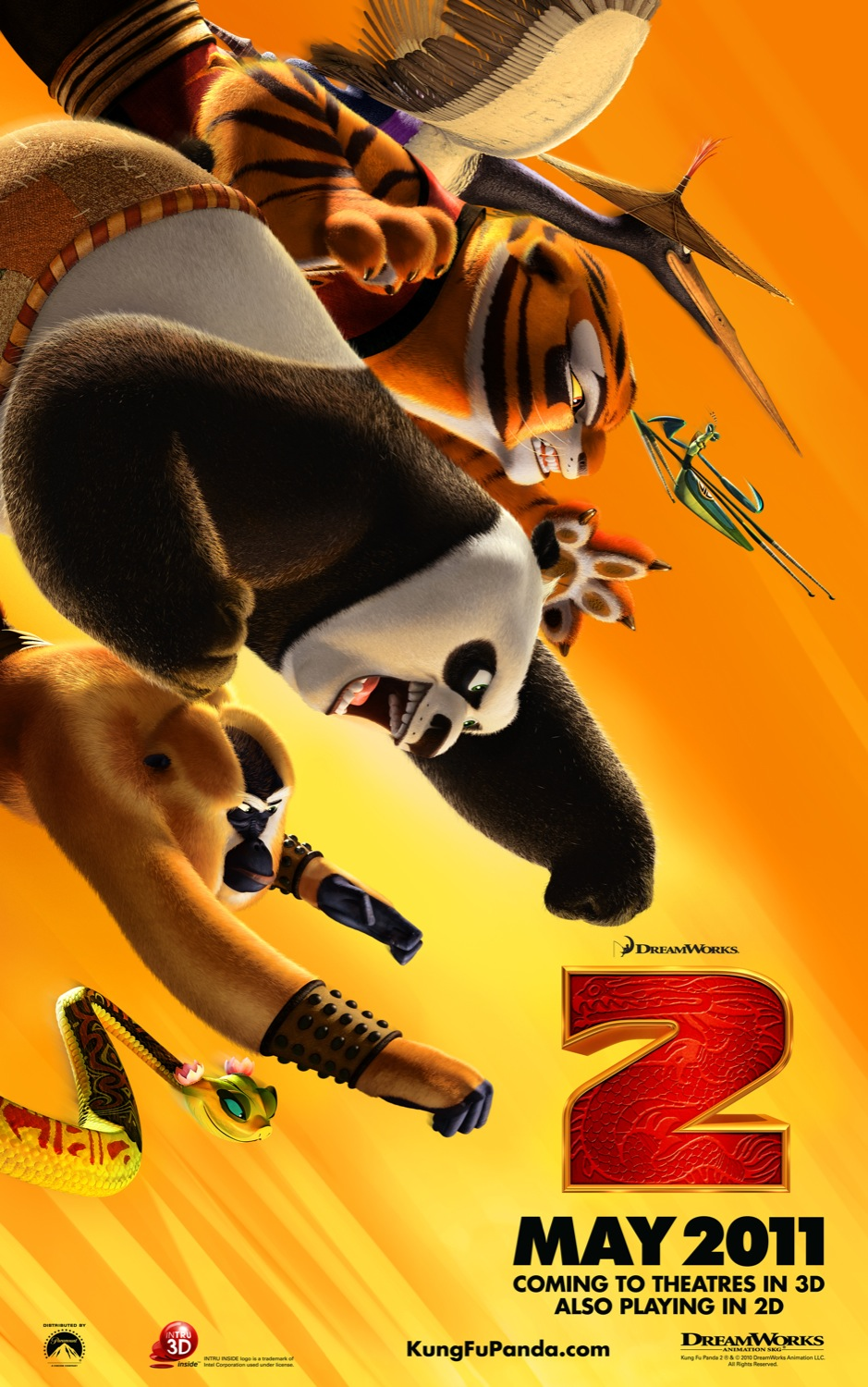 Free 3d Desktop Wallpapers Backgrounds Kung Fu Panda 2 3d Hd Poster Wallpapers Cartoon Wallpapers